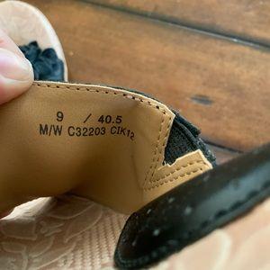 boc Shoes - BOC Born Concepts black leather wedge sandals